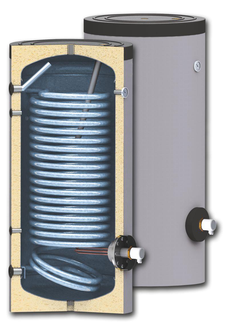 Boiler cu serpentina marita pentru instalatii cu pompe de caldura model SWPN