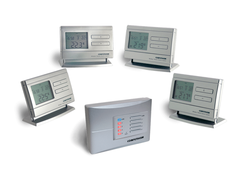 Termostat Computherm Q8 RF set cu patru termostate