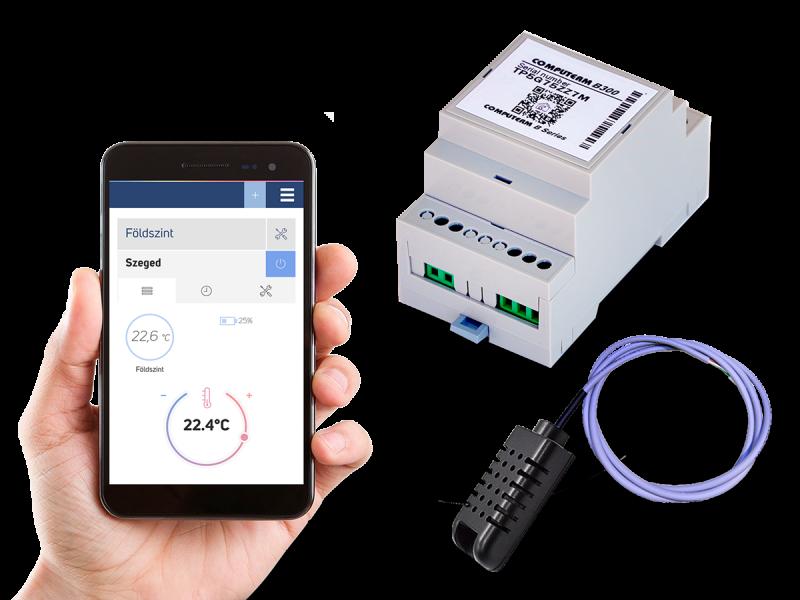 Controler de temperatura conectat la Internet COMPUTHERM B300 Wi-Fi cu senzor de temperatura cu cablu