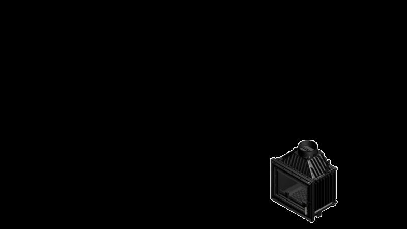 Focar de semineu din fonta M80 Modern 8 kW - dimensiuni de gabarit