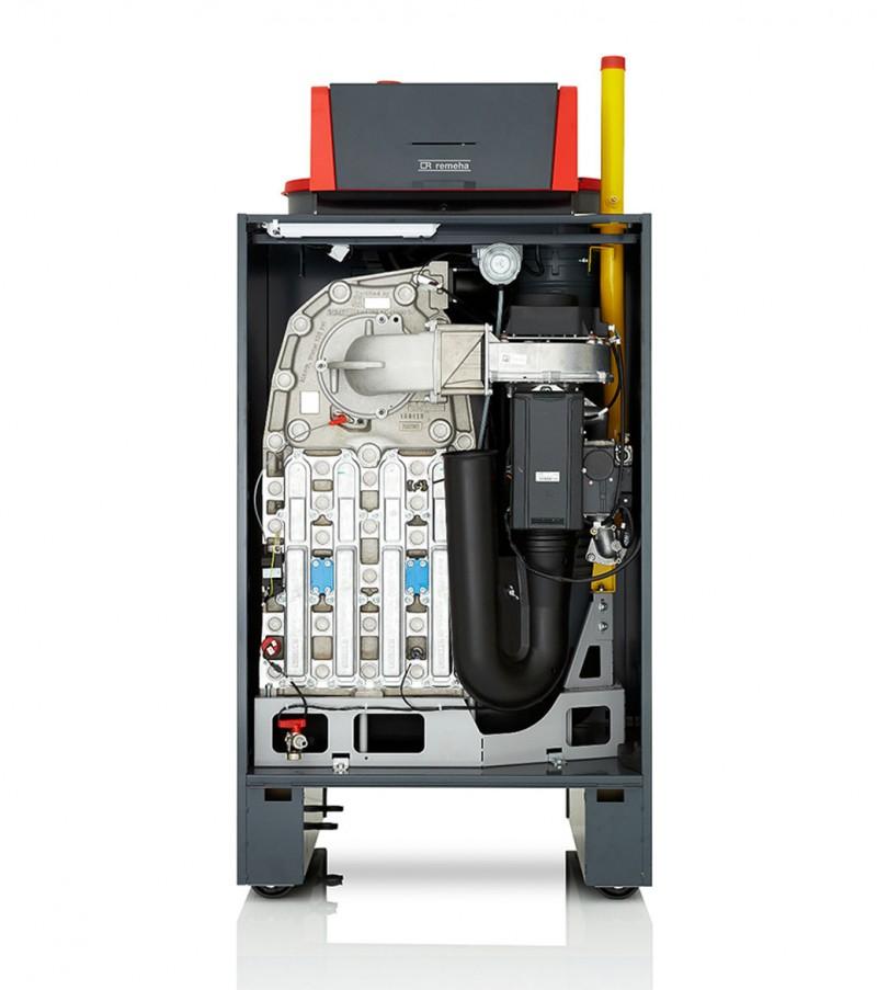 Centrala termica in condensatie pentru gaz metan REMEHA G220 ACE - vedere frontala fara capac