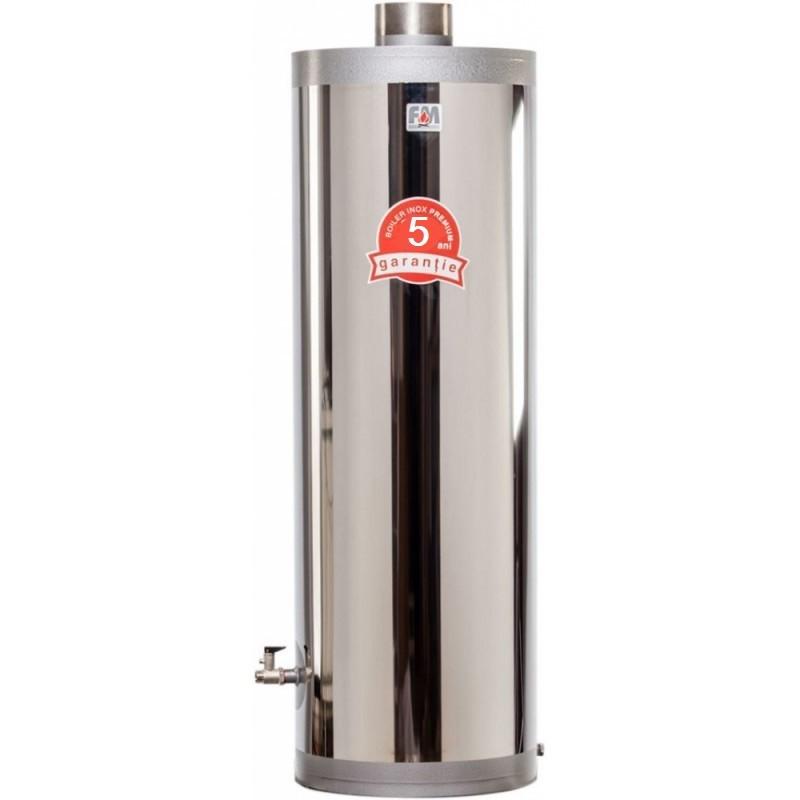 Boiler inox cu focar cu usi din tabla 5 ani garantie