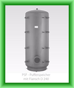 Puffer fara serpentina cu flansa Austria-Email model PSF - vedere fara izolatie