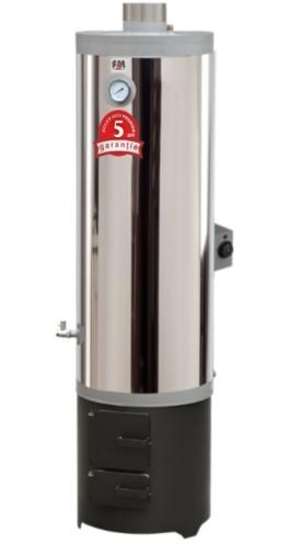 Ansamblu boiler inox 120 L cu focar cu usi din tabla + ELECTRIC