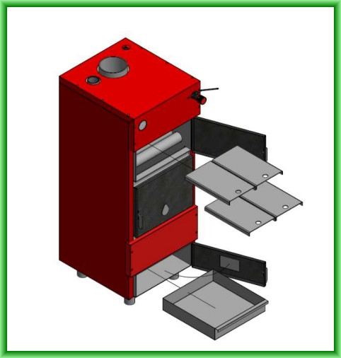 Centrala termica pe lemn ECO 37 - elemente componente furnitura