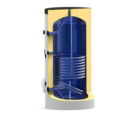 Boiler termoelectric emailat cu o serpentina Eldom Green Line - 750 litri - sectiune