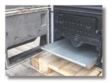 Centrala termica pe lemn din fonta MAXITECH - detaliu cenusar