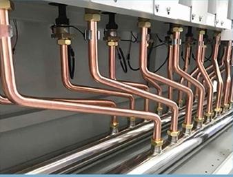 Centrala termica electrica cu inductie OFS-DTL - detaliu cu conductele de agent termic
