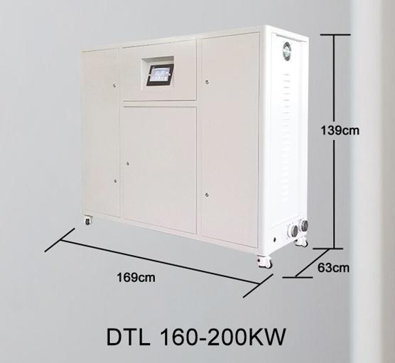 Centrala termica electrica cu inductie OFS-DTL 160 kW - dimensiuni de gabarit