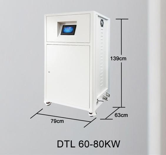 Centrala termica electrica cu inductie OFS-DTL 80 kW - dimensiuni de gabarit
