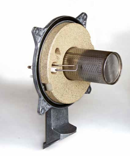 Centrala termica pe gaz in condensatie combi ARCA PIXEL MX PN - arzator de gaz cu preamestec detaliu