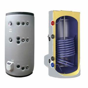 poza 5959 Lei Boiler termoelectric emailat cu doua serpentine Eldom Green Line - 1000 Litri