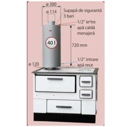Poza Boiler bucatarie 40 L FM - schema de montaj