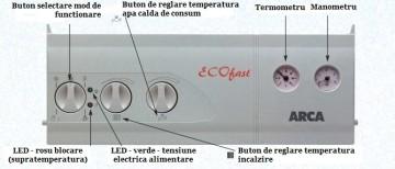 Poza Centrala termica pe gaz ARCA ECOFAST - panou de comanda