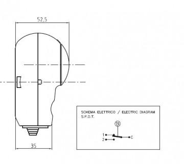 Poza Termostat de imersie tub capilar productie Arthermo Italia - vedere laterala
