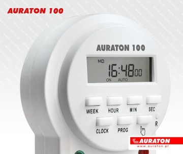 Poza Priza programabila AURATON 100 - detaliu afisaj si butoane