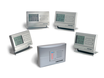 poza Termostate Computherm Q8 RF de ambient fara fir cu patru termostate programabile individual