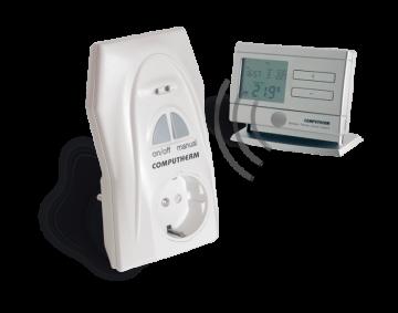poza Ansamblu priza-termostat cu radiofrecventa COMPUTHERM Q1RX + Q8RF (TX)