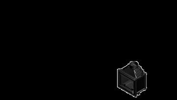 Poza Focar de semineu din fonta M80 Modern 8 kW - dimensiuni de gabarit
