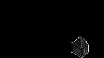 Poza Focar de semineu din fonta Z160 Plus 16 kW - dimensiuni de gabarit