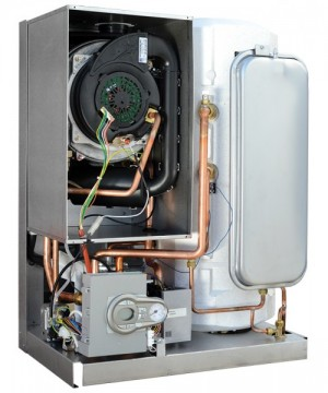 Poza CENTRALA TERMICA BLUEHELIX 32KW K50 cu boiler inox 50 litri - vedere interioara (fara capac)