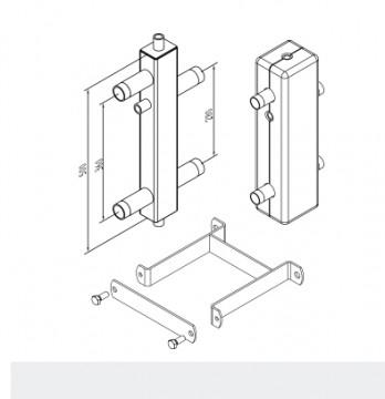 Poza Set suporti butelie de egalizare SINUS 80/60 4.5 m³/h
