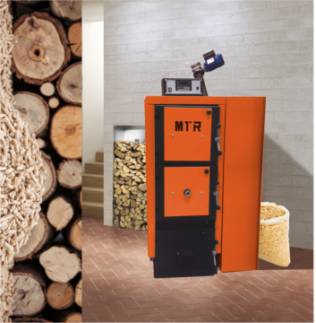 Poza Centrala termica mixta pe lemn si peleti Clean Energy