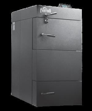poza Centrala termica pe lemn cu gazeificare Ferroli CGF 25 kW cu panou de comanda digital