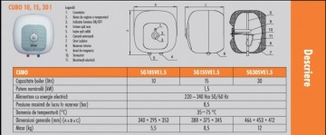 Poza Boiler electric Ferroli Cubo - fisa tehnica