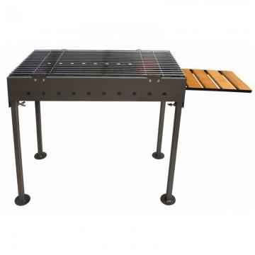 Poza Gratar de gradina pe lemn/carbuni din otel GRILLHOUSE 58x30 cm portabil