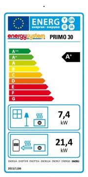 Poza Termosemineu pe peleti tip insert Primo 30 - clasa energetica