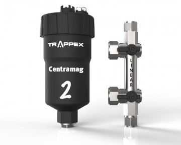 Poza Filtru dual pentru impuritati magnetice si nemagnetice CENTRAMAG 2 INLINE DN 22 mm - vedere frontala filtru cu dispozitivul de conectare demontat
