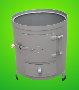 Poza Soba pentru boiler (focar nesamotat) culoare gri
