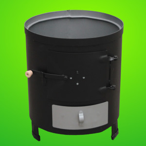 Poza Soba pentru boiler (focar nesamotat) culoare neagra