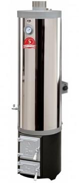 Poza Ansamblu boiler inox 120 litri cu focar cu usi din fonta FM + ELECTRIC