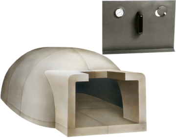Poza Cuptor pe lemne pentru paine prefabricat CLAM F160