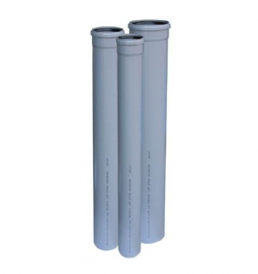 poza 7.50 Lei/ml TEAVA PVC CU MUFA SI GARNITURA PT CANALIZARE GRI, D.50X1.6 mm L=2m