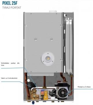 Poza Centrala termica pe gaz ARCA PIXEL 25F - vedere interioara