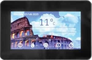 Poza Centrala termica pe peleti cu autocuratare Ferroli BioPellet Premium - panou de comanda