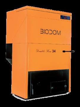 poza Centrala termica pe peleti cu doua ventilatoare si pompa by-pass BIODOM B34 30 kW