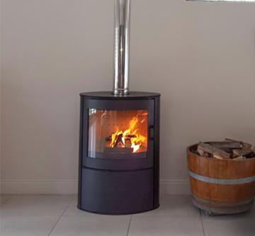 Poza Soba-semineu pe lemn AB S2 10 kW - exemplu de montaj