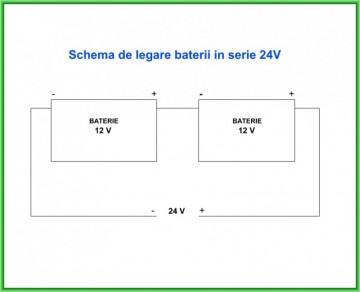 Poza Schema de conectare baterii in serie