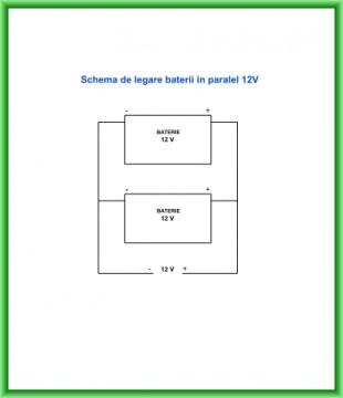 Poza Schema de conectare baterii in paralel